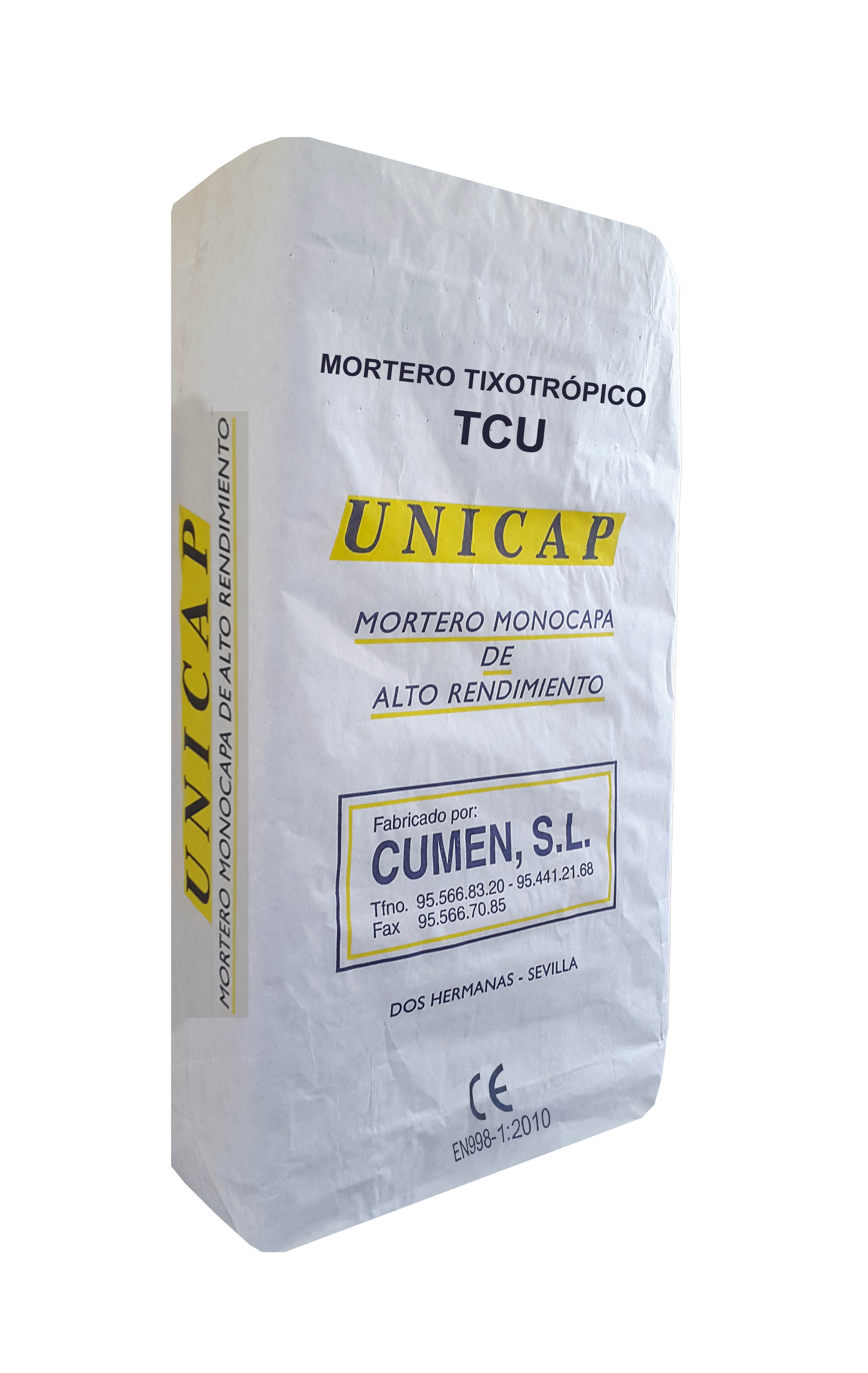 Material Mortero tixotrópico. TCU