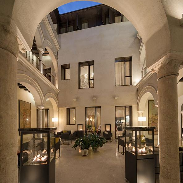 Hotel Posada del Lucero. Sevilla. Mortero de cal CUMEN