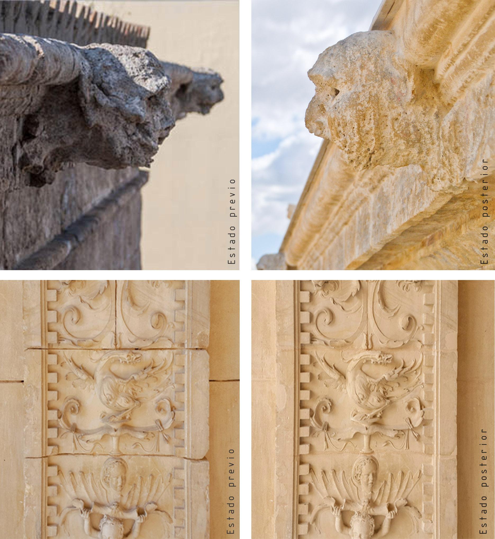 Consolidación y protección de elementos ornamentales en la Casa Consistorial de Sevilla. Micromortero de cal CUMEN