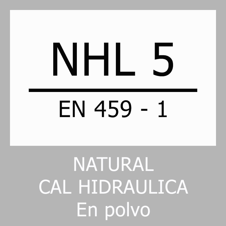 Logo norma. Cal hidráulica NHL 5