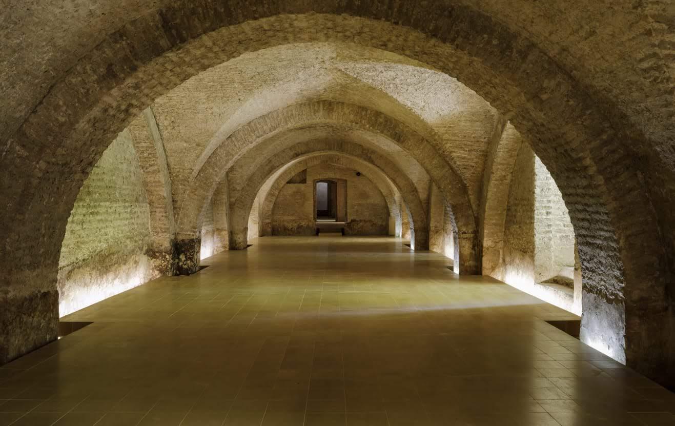 Semisótano del Palacio de Pedro I del Real Alcázar de Sevilla