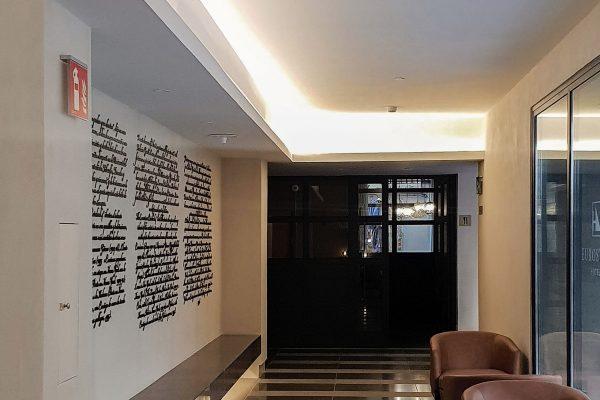18. Mortero Pétreo. Color Lobby. Interior