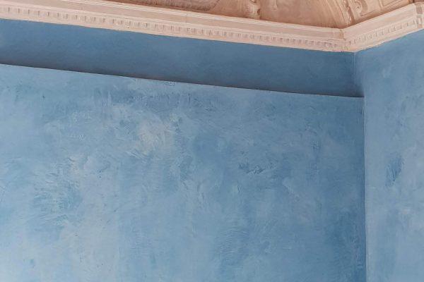 24. Estuco auténtico color azul bp. Escalera Bóveda